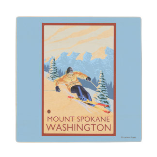 Downhhill Snow Skier - Mount Spokane, Maple Wood Coaster