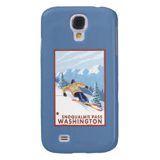 Downhhill Snow Skier - Snoqualmie Pass, WA Galaxy S4 Cover