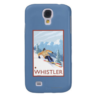 Downhhill Snow Skier - Whistler, BC Canada Samsung Galaxy S4 Covers