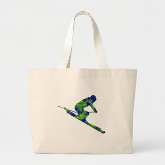 Downhill Escape Large Tote Bag