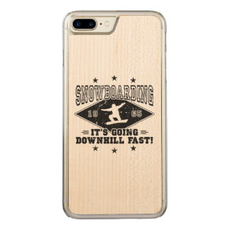 DOWNHILL FAST! (blk) Carved iPhone 8 Plus/7 Plus Case