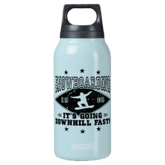 DOWNHILL FAST! (blk) Insulated Water Bottle
