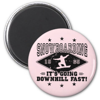 DOWNHILL FAST! (blk) Magnet