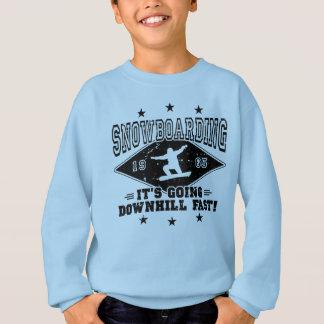 DOWNHILL FAST! (blk) Sweatshirt