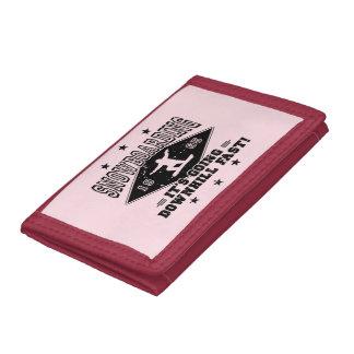 DOWNHILL FAST! (blk) Tri-fold Wallet