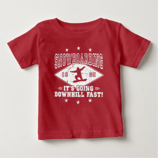 DOWNHILL FAST! (wht) Baby T-Shirt