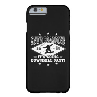 DOWNHILL FAST! (wht) Barely There iPhone 6 Case