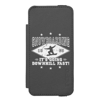 DOWNHILL FAST! (wht) Incipio Watson™ iPhone 5 Wallet Case