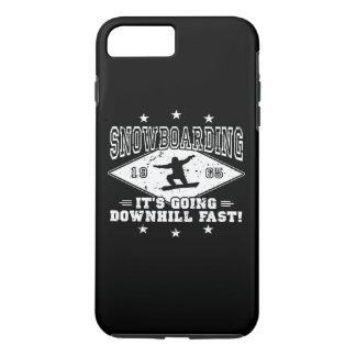 DOWNHILL FAST! (wht) iPhone 8 Plus/7 Plus Case