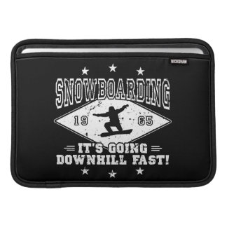 DOWNHILL FAST! (wht) MacBook Sleeve