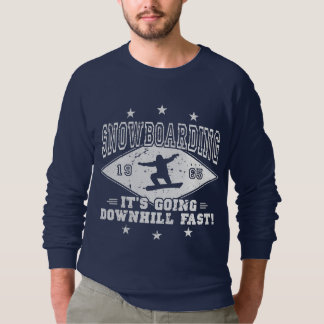 DOWNHILL FAST! (wht) Sweatshirt