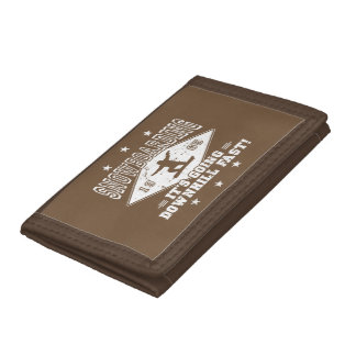 DOWNHILL FAST! (wht) Tri-fold Wallets