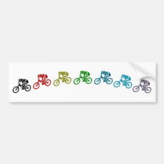Downhill mountain bike jump bumper sticker