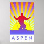 downhill ski aspen poster