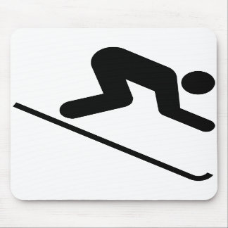 Downhill Ski Symbol Mousepad
