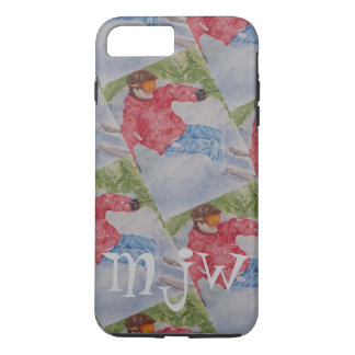 DOWNHILL SKIER MONOGRAM iPhone 8 PLUS/7 PLUS CASE