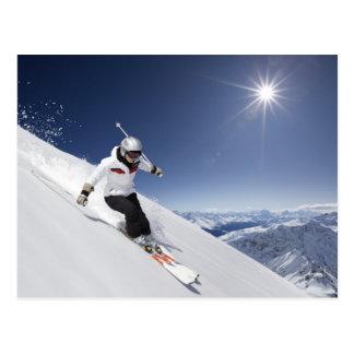 Downhill Skier Postcard