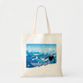 Downhill Skier Tote Bag