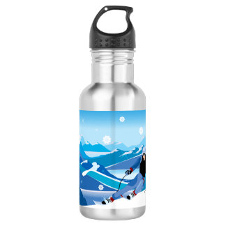 Downhill Skier Water Bottle