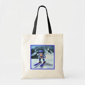 Downhill Skiing 2 Budget Tote Bag