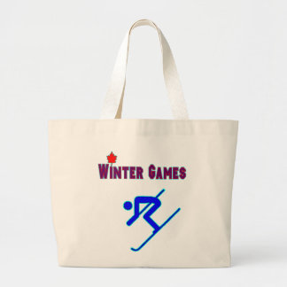 Downhill Skiing Canvas Bags