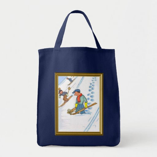 Downhill skiing bags