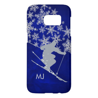 Downhill Snow Ski Blue Monogram