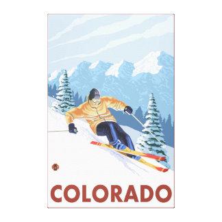 Downhill Snow SkierColorado Gallery Wrap Canvas