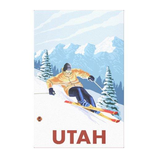 Downhill Snow SkierUtah Canvas Print