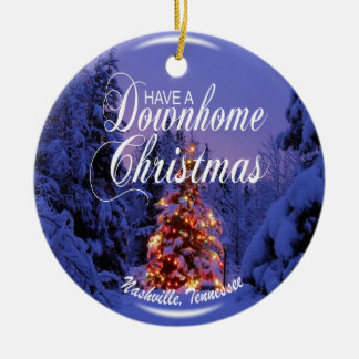 Downhome Nashville Christmas Ornament
