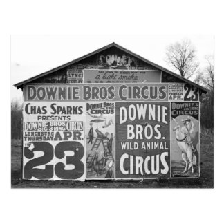 Downie Bros. Circus, 1936 Postcard