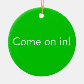 Download in Progress / Come on in toilet door Sign Ceramic Ornament
