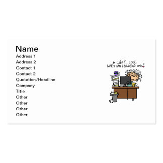 Download Life Humor Pack Of Standard Business Cards