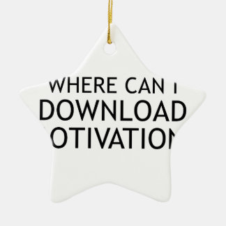 Download Motivation Ceramic Star Decoration