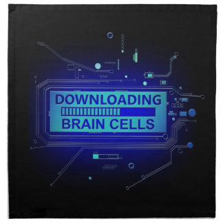 Downloading brain cells. napkin