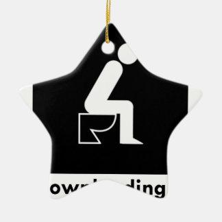Downloading Poop Ceramic Ornament
