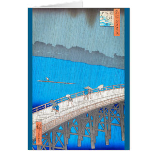 Downpour by Hiroshige Card