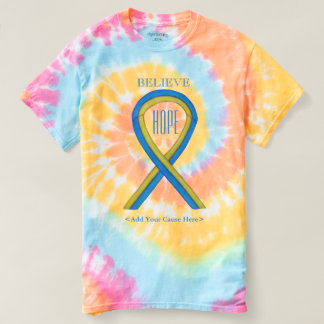 Down's Syndrome Awareness Ribbon Custom Art Shirts