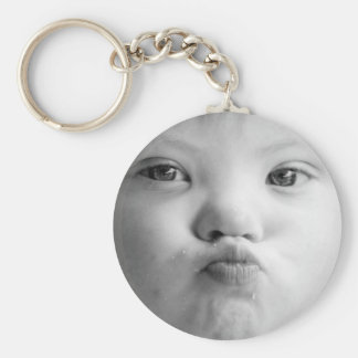 Down's Syndrome Kiss Keychain