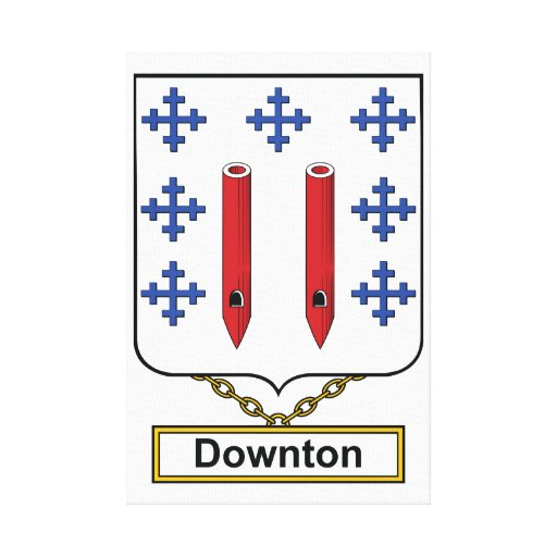 Downton Family Crest Stretched Canvas Print