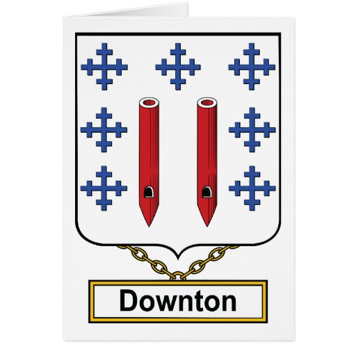 Downton Family Crest Cards