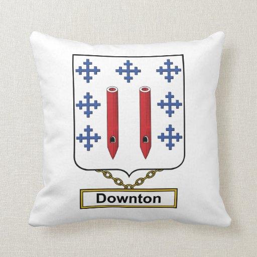 Downton Family Crest Pillow