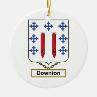 Downton Family Crest Christmas Tree Ornaments