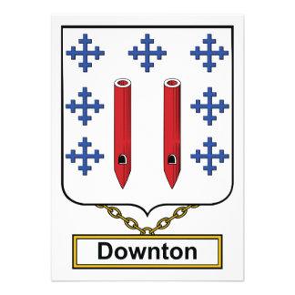 Downton Family Crest Personalized Invitation