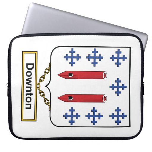 Downton Family Crest Laptop Sleeves