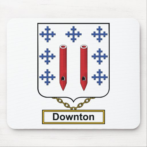 Downton Family Crest Mouse Pads