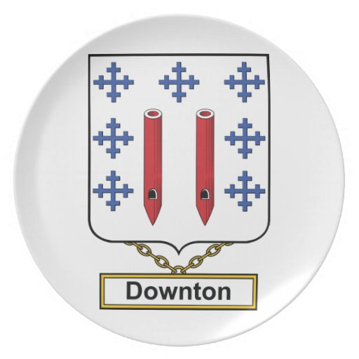 Downton Family Crest Plate