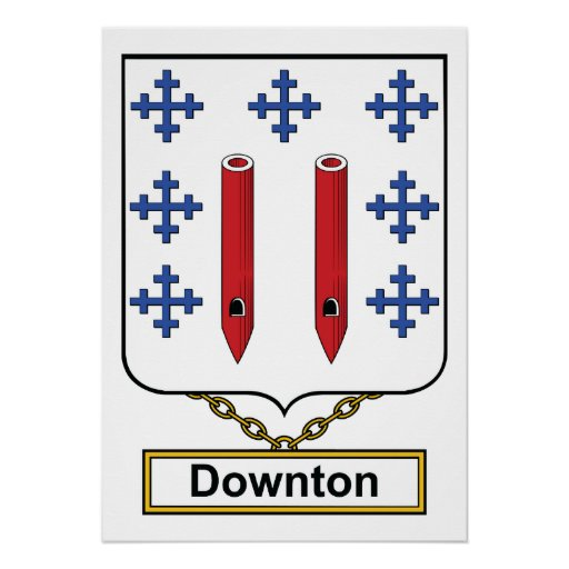 Downton Family Crest Poster