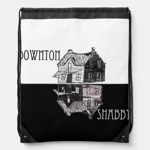 Downton Shabby Parody Drawstring Backpack