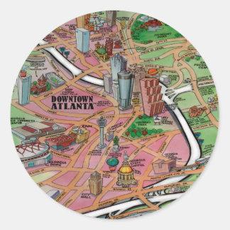 Downtown Atlanta Georgia Classic Round Sticker